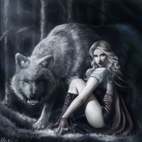 Little red riding hood and Big bad wolf by buralbrah
