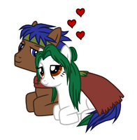 Pony Ike and Pony Elincia by Great-Aether