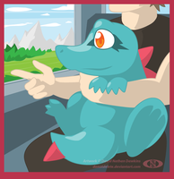 Training with Totodile by DoNotDelete