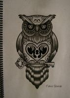 new owl tattoo by FraH