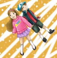 Gravity Falls-Dipper and Mabel Pines by spammusubi24