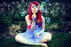 I Love Soap bubbles by milleviola