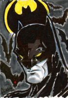 Batman Sketch Card by soulshadow