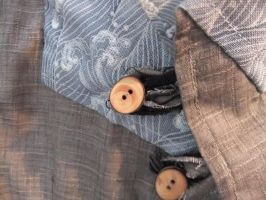 Japanese Fabric Waistcoat (detailing) by sewn-by-honeybirds