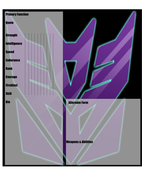 Decepticon Profile Template by MidnightPrime
