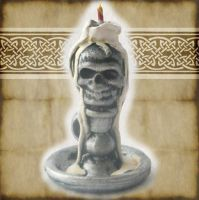 miniature skull candle by grimdeva