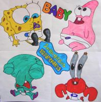 SpongeBob and Friends as babys by MyCrazySuizide