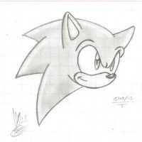 Sonic in my math notebook LOL by AlexTHF