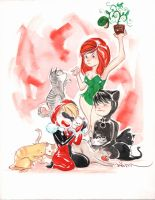 gotham girls and cats by duss005
