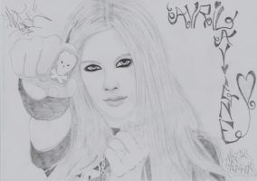 Avril Lavigne drawing 7 by moesa23