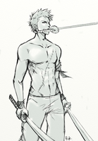 Zoro sketch by BreizhyGlaw