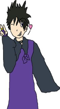 Miroku Spiky Haired- Colored by Little-Blue-Wolf