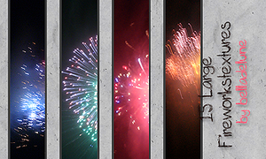 15 Large Fireworktextures by zakurographics