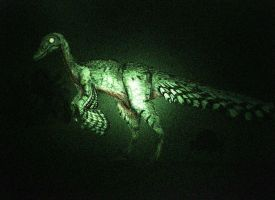 Teratophoneus troodon nightvision by Hyrotrioskjan