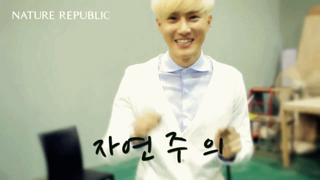 [GIF] Suho's Aegyo - Nature Rep BTS by imawesomeee03