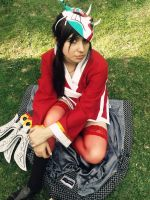 Blood Moon Akali Cosplay Chile by RosseSinner