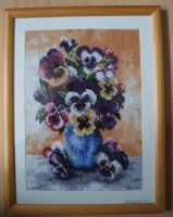 Pansy Cross-stitch by solgas