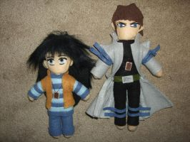 Mokuba and Kaiba Plushies by JaimeNWester