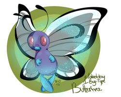 Day 1 - Bug Type, Butterfree by LunaStar52