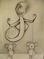 Two Mice and A Crazy Man by MarieMoore91