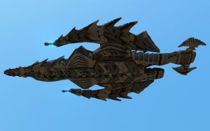 Deep Destroyer Bottom Starship by agwesh