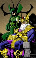 Odin and Hela Colored by statman71