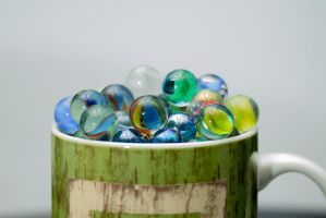 Cup of Marbles by KingFamine
