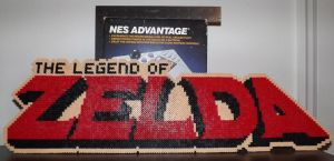 Legend of Zelda NES Logo Perler Art by kamikazekeeg