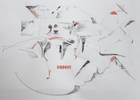 surreal desintegration of abstract dance - draft by creapicform