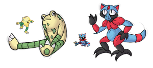 Pokemon Fusions by TheSketchADoodle