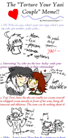 The Yaoi couple torture meme by Aquillic-Tiger