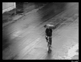 Alone with the rain.. by beArebel