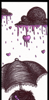 Raining Bookmark by DablurArt