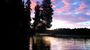 Lake at twilight by TortueBulle