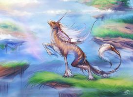 small unicorn want to fly by RedBast