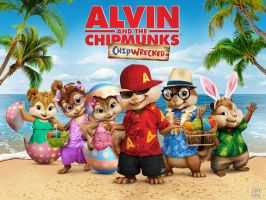 chipmunks and chipettes easter by johnnychipmunks2