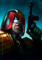 JUDGE DREDD - speed painting by MOROTEO56