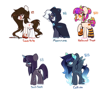 [Belated Halloween Adopts] [CLOSED] by Mochi-Munchi