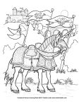 Battle Unicorn coloring page by TabLynn