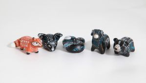 Polymer clay animal totems by lifedancecreations