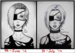 Before and After - Punk Lady by RedStar-Sama