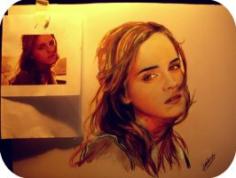 fanart ilustration emma watson by karlyilustraciones