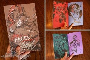 FACES sketchbook pics by J-Scott-Campbell