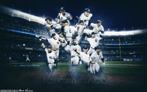 Derek Jeter Farewell Captain by Sanoinoi