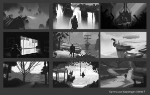 Schoolism composition sketches by Sammavanklaarbergen