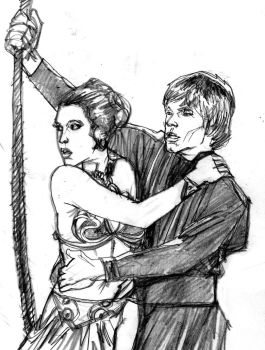 Luke and Leia Sketch by SuperPoser