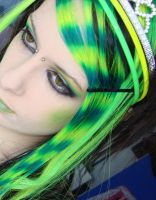 Neon Yellow and Green Hair by CandyAcidHair