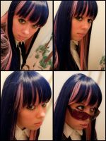 Stocking wig+makeup test by StarDustShadow