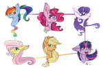 The mane 6 by Siinys