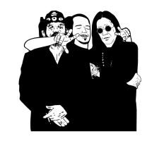 Lemmy, me and Ozzy by sidnei-siqueira